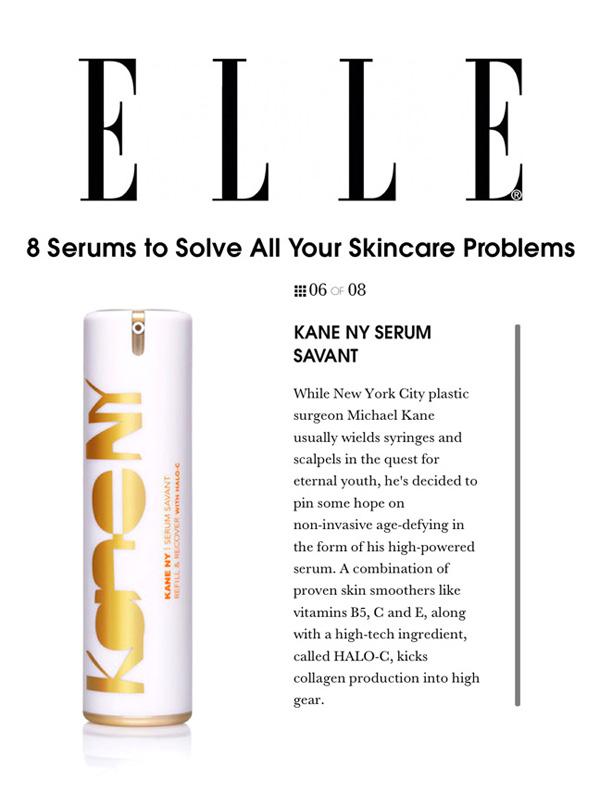 ELLE - Kane NY Serum Savant